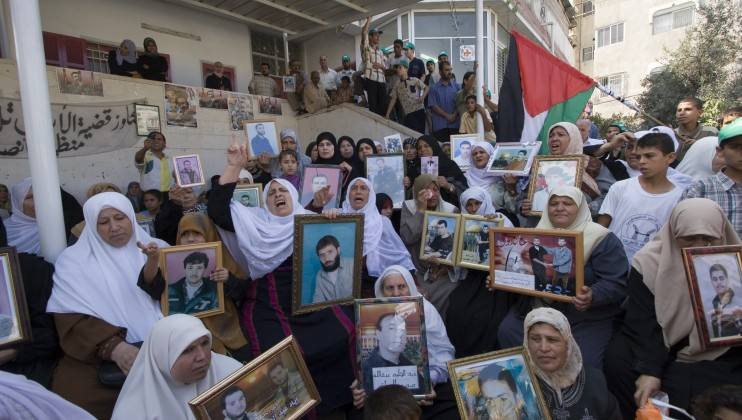 Gaza, ICRC sub-delegation. Demonstration by women whose family members are detained in Israel.