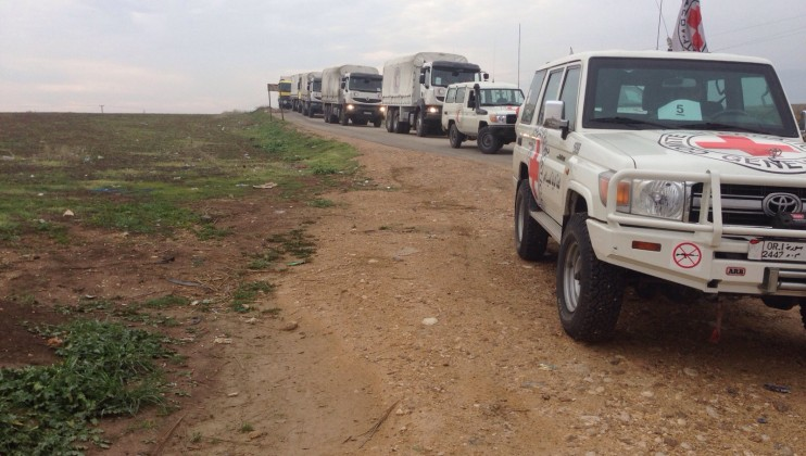 1. convoy to Foua and Kefraya.  Photographer Somar Rezk