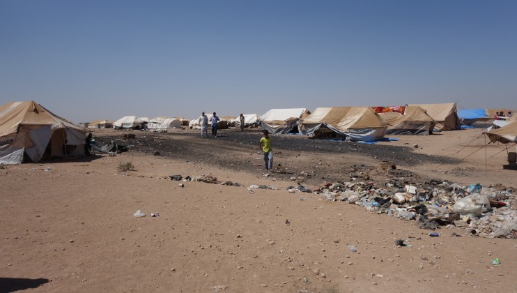 Arisha camp in Hassakeh governorate: The camp is located 70km from Deir Ezzor frontline. Around 6000 people are accommodated in the camp in very dire conditions, with no clean water, no medical services and no toilets. It was established in June 2017, and the area used to serve as a petroleum refinery, hence toxic waste could be found on site.