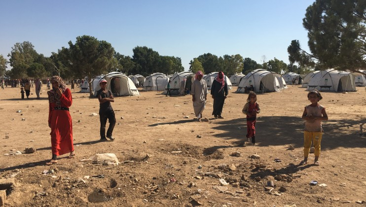 Tweihaneyeh camp in Raqqa governorate: with around 2000 people, with almost no assistance, be it food, water or medicines and many people sleeping outdoor with no shelter.