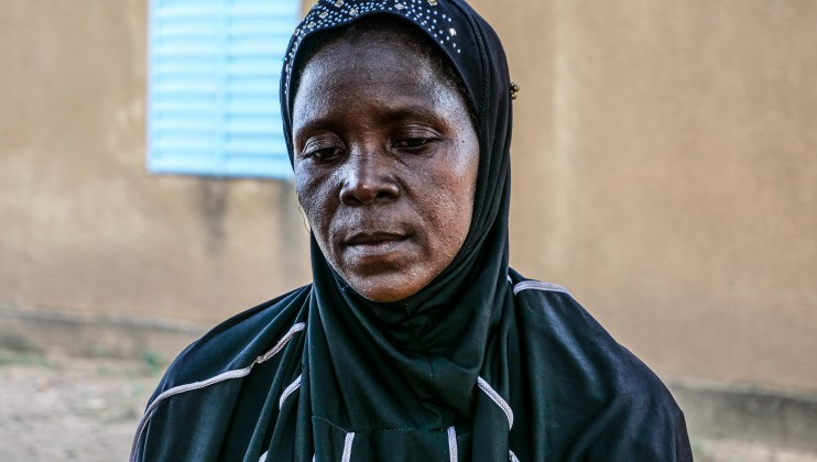 """Safieta Kinima was a community health worker in Dablo. Her job was to sensitize women on the need to do prenatal checkups and get their children vaccinated. She doesn't have a job anymore because the Dablo Health Center has closed following an attack. """"I stay in Dablo, it's dangerous but it's my home. """""""