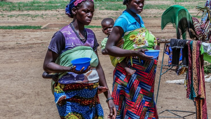 """Women and children make up the overwhelming majority of patients at the Barsalogho medical centre. """"We are left to ourselves,"""" Salamata Ouedraogo, a patient at the medical center."""
