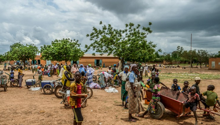 """Barsalogho is the main rallying point for people fleeing violence in the Centre-North region of Burkina Faso. """"The community currently hosts more than 35,000 people and there are constant new arrivals, who walk up to 65km to come here,"""" says Adama Sawadogo, volunteer at the Burkinabè Red Cross."""
