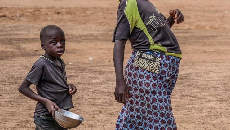 "Women and children make up the overwhelming majority of patients at the Barsalogho medical centre. ""We are left to ourselves,"" Salamata Ouedraogo, a patient at the medical center."