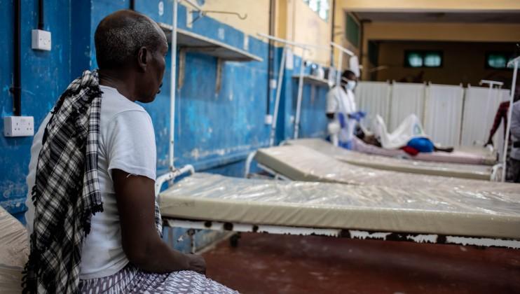 A patient in the ward of Keysaney hospital in Mogadishu Somalia. ICRC/Ismail Taxta