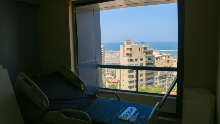 A patient's room at St. George's hospital.