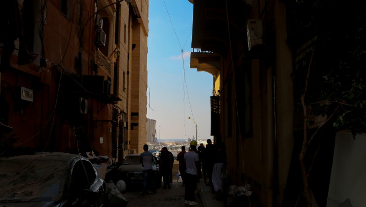 Charbel barakat ICRC1:	A picture from Gemmayze Street, one of the streets in Central Beirut that was severely damaged.