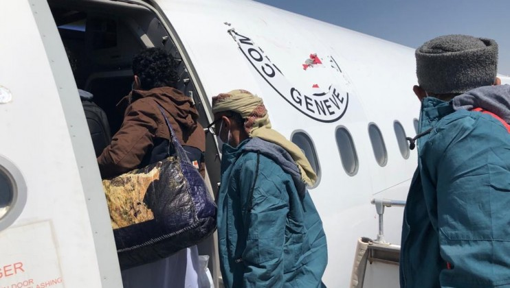 2. Sana'a detainees departing