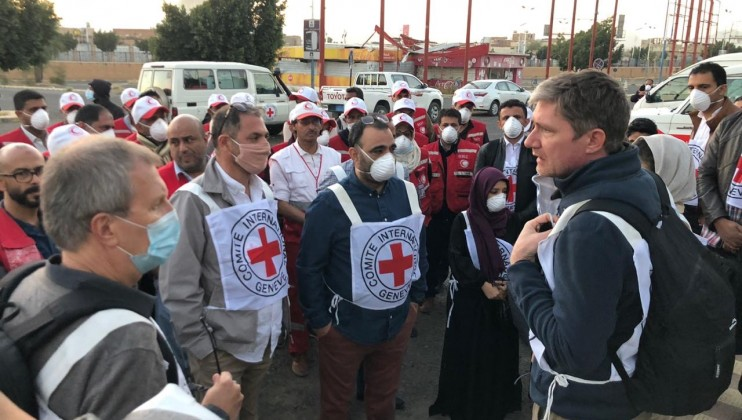 3. Sana'a ICRC&YRC departing for airport