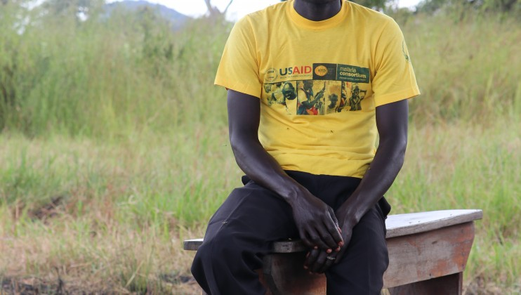 "John Taban fled to the bush to escape clashes in his village in Central Equatoria. ""We fear to come back to our village because it is where all the clashes happened,"" he said. Photo: Lucien Christen/ICRC"